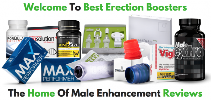 Home Page banner explaining that this website is about male enhancement reviews